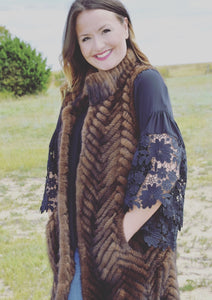 Knitted Mink Tunic Vest