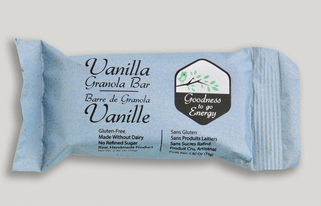 Vanilla Granola Bar (Box of 12)