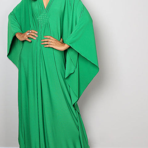 Kimono dress. Green. One Size.
