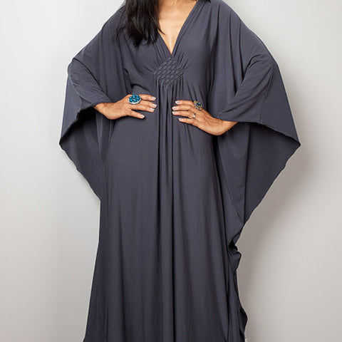 Kimono dress. Grey.  One Size.