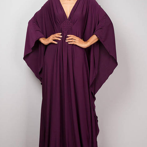 Kimono dress. Dark Purple.  One Size.