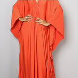 Kimono dress. Orange. One Size.