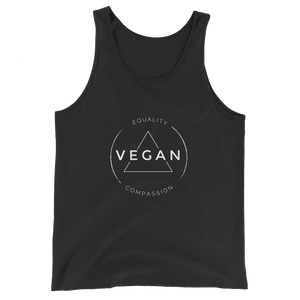 Vegan Equality Compassion - Unisex Tank Top - Two Radishes - BLACK