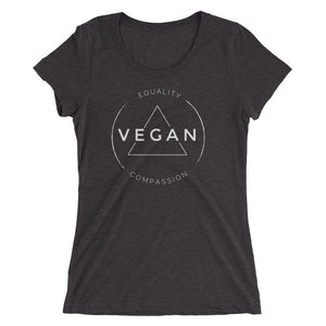 Vegan Equality Compassion - Women's T-Shirt - Two Radishes - SOLID GREY TRIBLEND