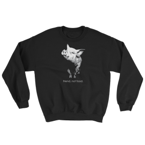 Friend Not Food - Unisex Crew Neck Sweatshirt - Two Radishes - black