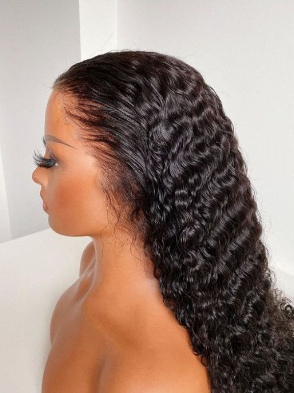 24'inch lace frontal deep wave wig + Customized