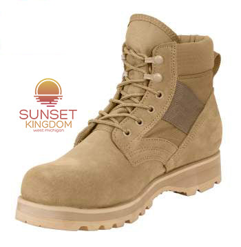Sunset Kingdom Military Combat Work Boot