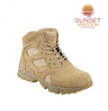 Sunset Kingdom 6 Inch Forced Entry Desert Tan Deployment Boot
