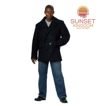 Sunset Kingdom US Navy Type Pea Coat