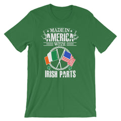 Made With IRISH Parts Short-Sleeve Unisex T-Shirt