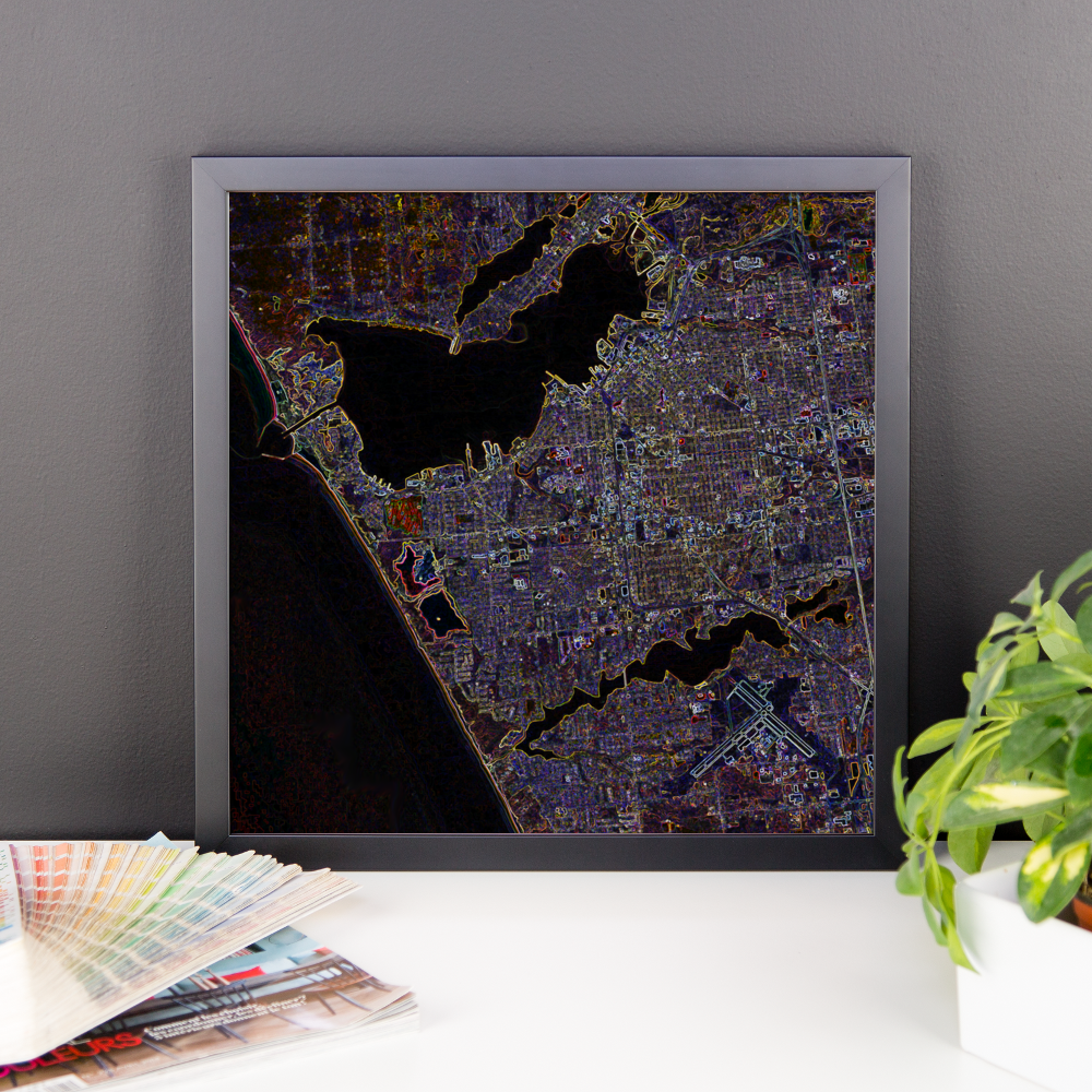 City of Muskegon Framed Print