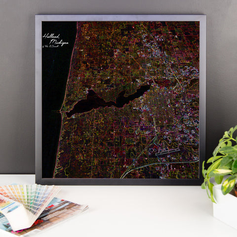 Holland Michigan Framed Print with Words