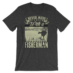 Michigan Fisherman Short-Sleeve Unisex T-Shirt