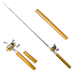 38inch Portable Pocket Aluminum Alloy Fishing Rod