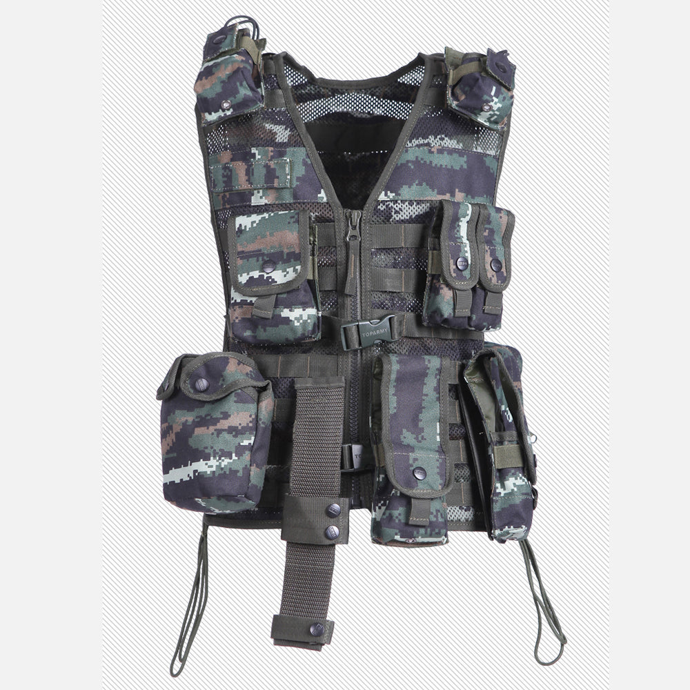 Sunset Kingdom Nine Pockets Filed Outdoors Casual Camouflage Men's Regular Vest Multi-Pockets Detachable Vest One Size