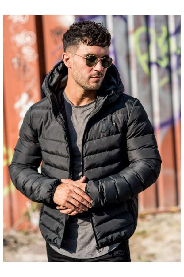 Gym King Puffa Jacket - Black