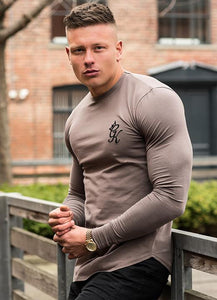 Gym King Long Sleeve Fitted T-Shirt - Iron