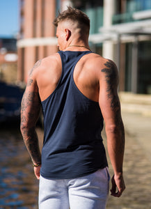 Gym King Stringer Vest -Blue Nights