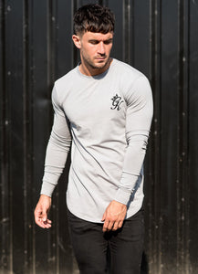 Gym King longSleeve Fitted T-Shirt - Drizzle