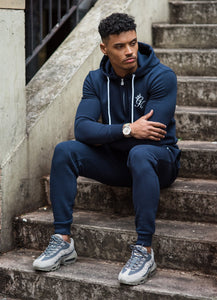 Gym King Tracksuit Zipped Hoodie – Blue Nights