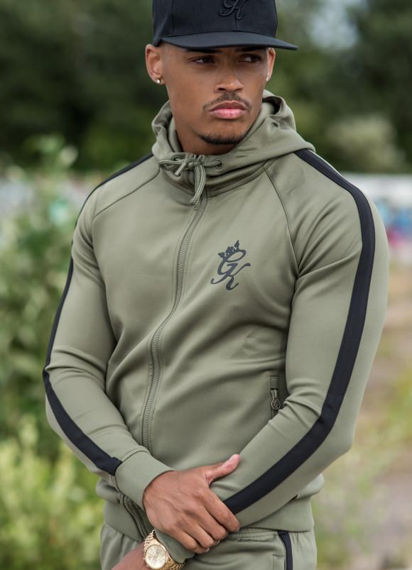 Gym King Full Tracksuit - Khaki/Black