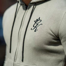 Gym King Fleece Zipped Hoody - Vetiver