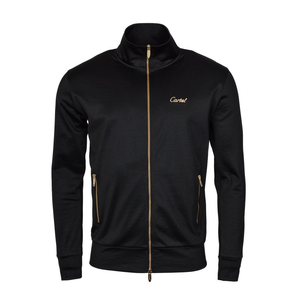 CARTEL THE PLAYER TRACK JACKET - BLACK/GOLD
