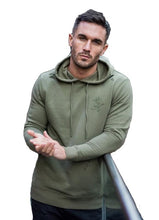 Gym King Pullover Distressed Hoody - Olive