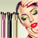 5Pcs Makeup Brushes With Round Tube