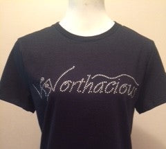 Worthacious Rhinestone Design T Shirt