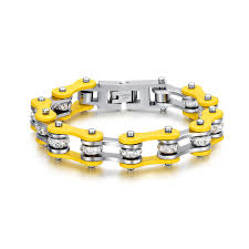 Women's Yellow  Stainless Steel Motorcycle Chain