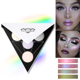 Triangle Holographic Glitter Eyeshadow Palette
