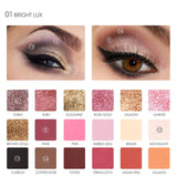 18 Full Color  Matte Diamond Glitter Eyeshadow Palette