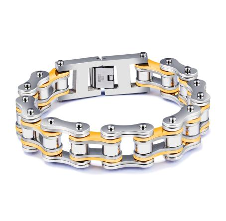 Men's Motorcycle Chain Link Stainless Steel Bracelet