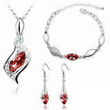 Elegant luxury Austrian Crystal Drop jewelry Set