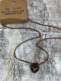 Copper Blue Stone Necklace