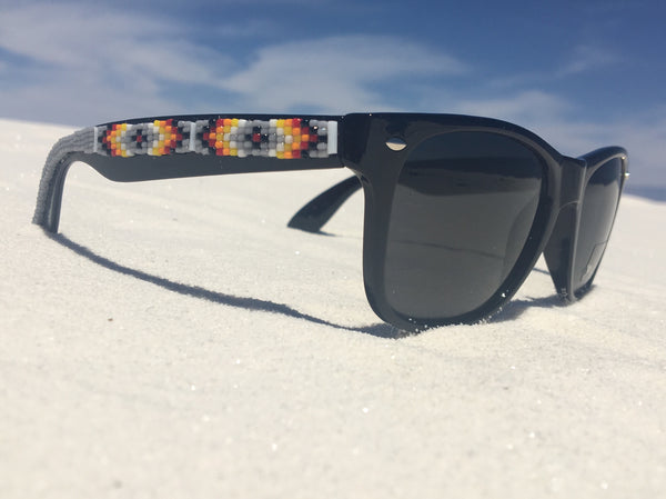 Grey Beaded Sunglasses