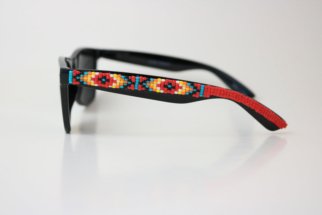 Red Beaded Sunglasses