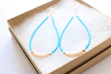 Kingman Turquoise Shell TearDrop Earrings