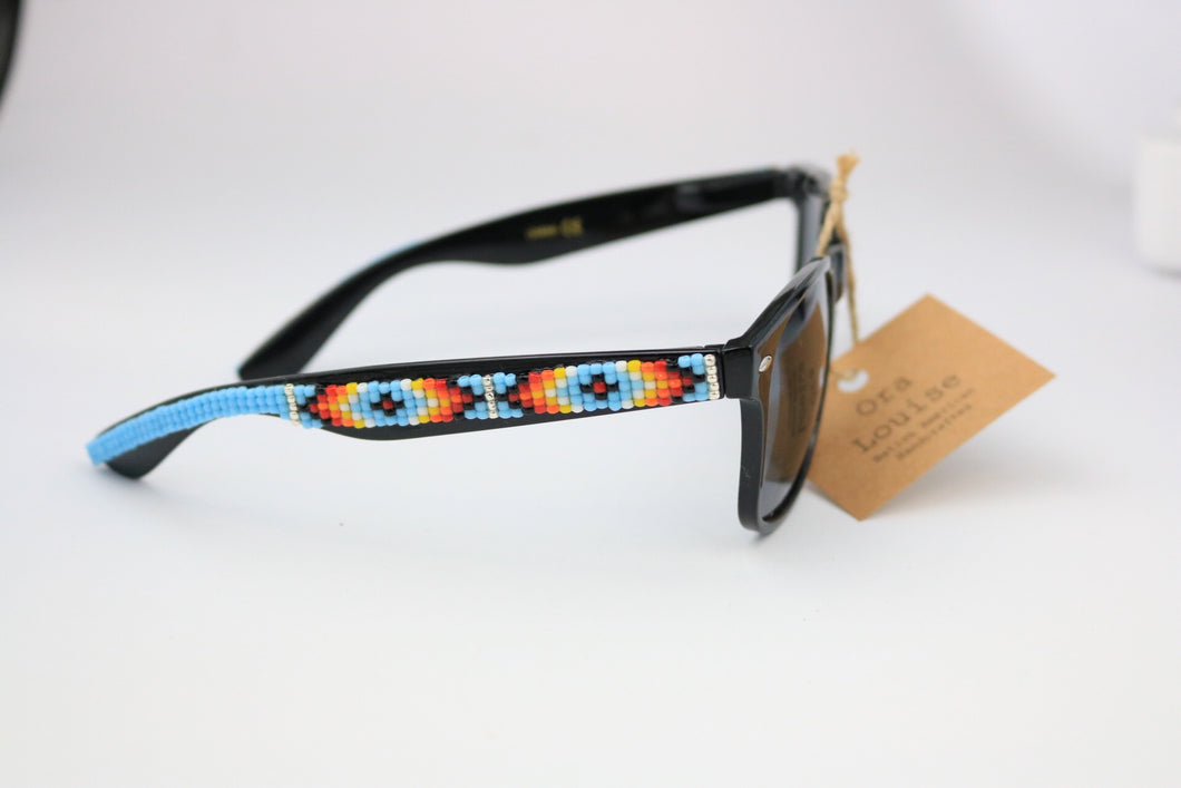 Sky Blue Beaded Sunglasses