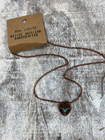 Bull Copper Blue Stone Necklace
