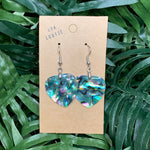 Abalone Shell Heart Earrings