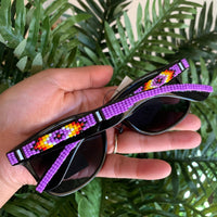 Purple Beaded Sunglasses