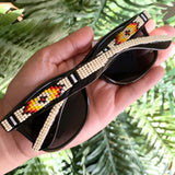 Cream Beaded Sunglasses