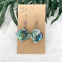 Abalone Shell Diamond Earrings