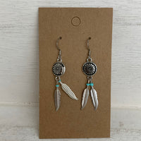 Concho Feather Earrings