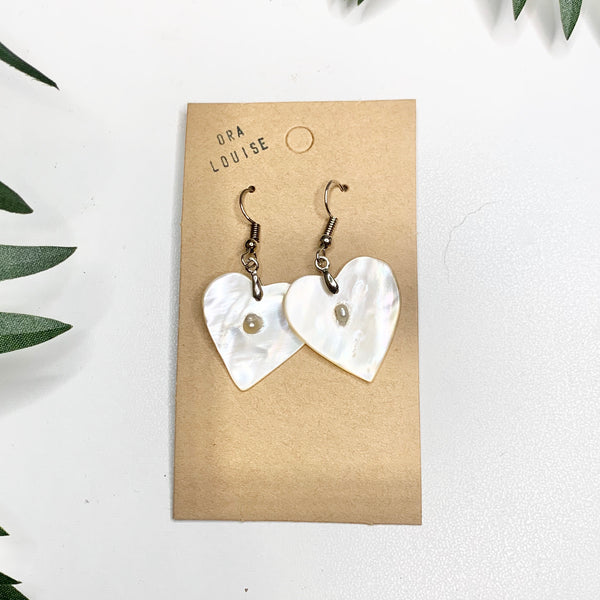 Heart Mother of pearl Shell Earrings