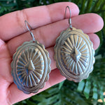 Silver Plated Concho Earrings