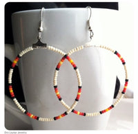 Egg Shell Hoop Earrings
