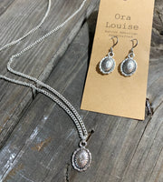 Concho Necklace & Earrings set
